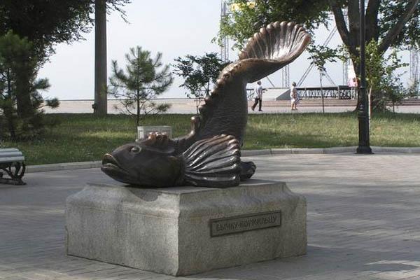 Бердянск памятник бычку